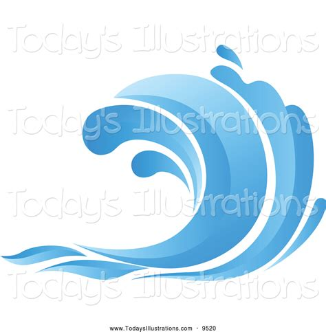 vector clip clipart of a blue wave by vector tradition sm 9520