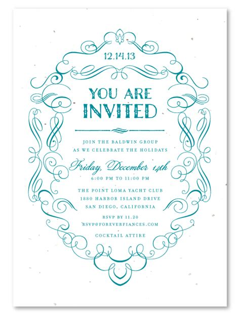 Formal Business Invitation Card Template by Business Invitations Formal Scrolls Business