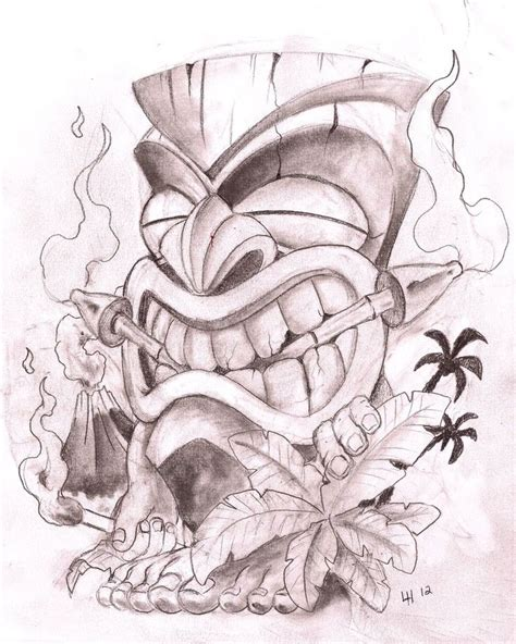 tiki man tattoo designs my most pinned pin tiki s monkies coloring and