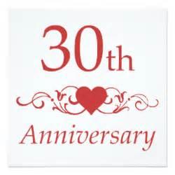 167 30 year wedding anniversary invitations 30 year wedding anniversary announcements