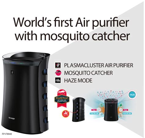 Sharp Fpgm50yb Air Purifier With Mosquito Catcher 40 M klipinterest sharp fp fm40 world s air purifier with mosquito catcher klipinterest