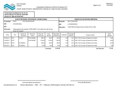 sustraendo del islr 2015 ejemplo de comprobante de retenci 243 n de impuesto sobre la