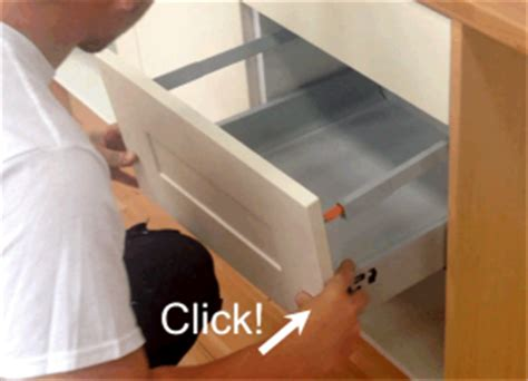 Blum Drawer Removal by How To Fit Drawer Front On Blum Tandembox Drawer Boxes