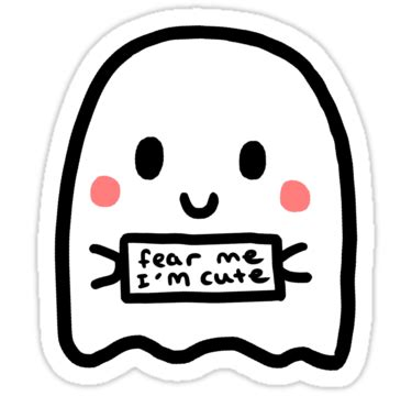 Cetak Sticker A3 Transparant Cutting 1 quot fear me i m quot stickers by adele mayr redbubble