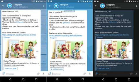 telegram custom themes telegram 3 17 brings support for custom themes
