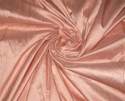 drapery cloth peach 100 dupioni silk fabric yardage by the yard quilt