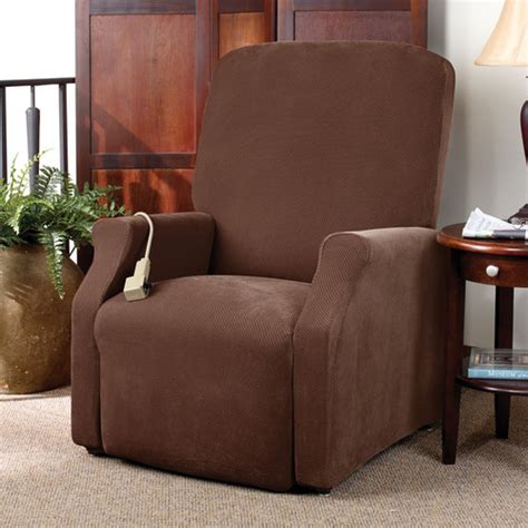 sure fit recliner slipcovers sure fit stretch pique medium recliner slipcover reviews