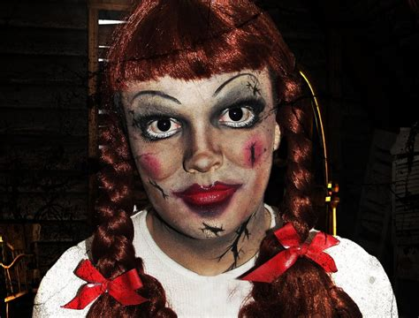 haunted doll halloween costume annabelle doll the conjuring makeup tutorial youtube