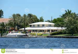 Water Front House Plans Luxury Waterfront Home Royalty Free Stock Photo Image