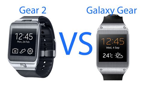 samsung galaxy gear 2 samsung gear 2 vs galaxy gear smartwatches compared