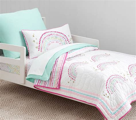 rainbow bedding for rainbow toddler bedding pottery barn