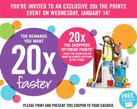 printable pers coupons canada 2015 shoppers drug mart canada printable coupons get 20x the