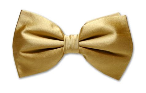 bowtie silk solid gold color men s bow tie tuxedo ties