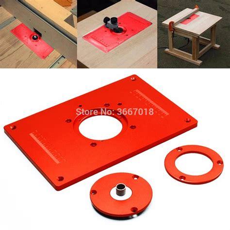 pcsset aluminum router table insert plate xxmm