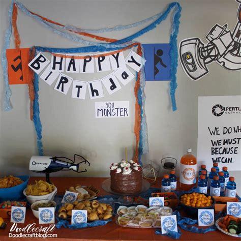 ideas portal doodlecraft portal video game birthday party