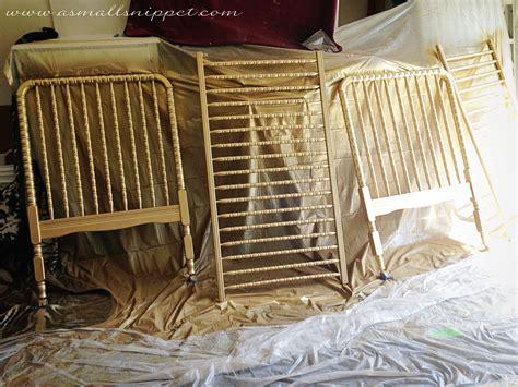metallic gold crib a small snippet