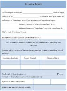 technical report template technical report template of technical report sle
