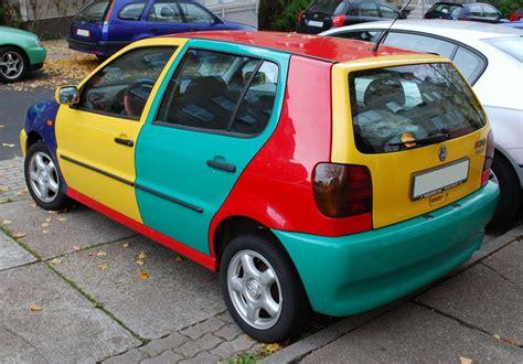 ugly car colors file vw polo iii harlekin heck jpg wikimedia commons