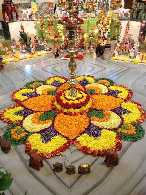 Navarathri Golu Decoration Ideas by Golu Special Floral Decoration Golu Ideas