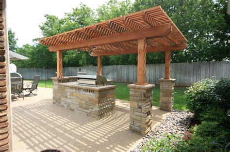 Cabinet Doors Dallas Tx Outdoor Kitchens Pergolas Traditional Patio Dallas