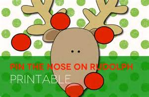 pin the nose on rudolph template pin the nose on rudolph make me grin