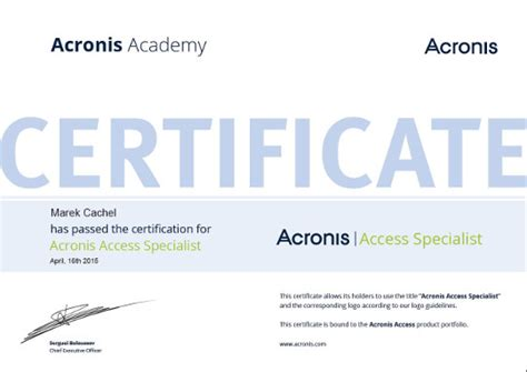 Access Specialist by Acronis It Prime S R O