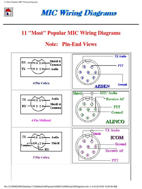 cb mic wiring diagrams 22 wiring diagram images wiring