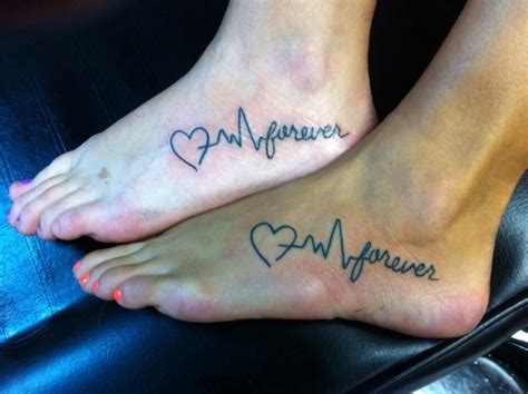 best friend heart beat tattoo body art pinterest