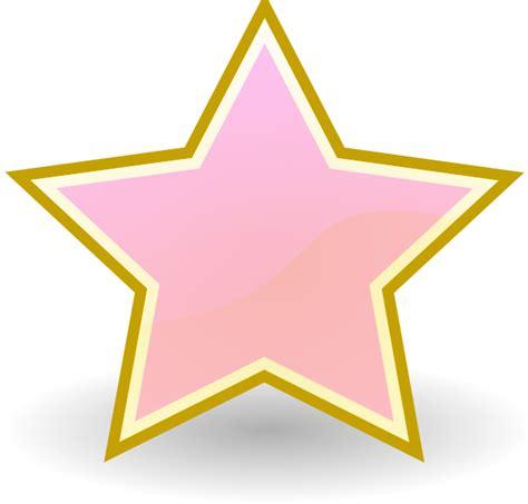 baby pink star clip art  clkercom vector clip art