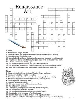 The Renaissance Worksheet Answers by Renaissance History Crossword Puzzle By Artsycat Tpt
