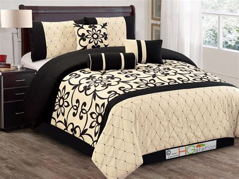 off white comforter set 11p sunflower floral quilted trellis comforter curtain set