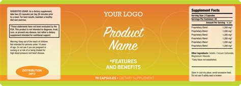 product label templates label nutritional supplements seotoolnet