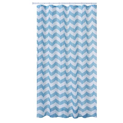wilko chevron shower curtain aqua at wilko com