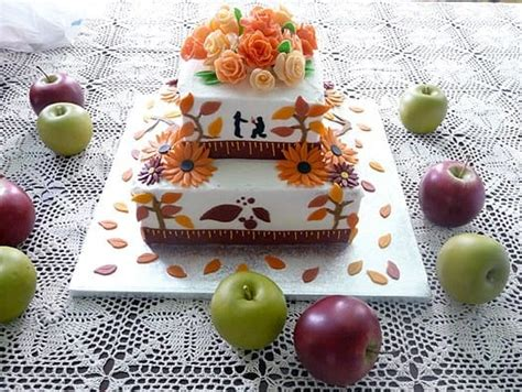 fall bridal shower cake pictures fall themed wedding shower cake brown eyed baker