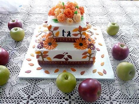 autumn bridal shower cakes fall themed wedding shower cake brown eyed baker