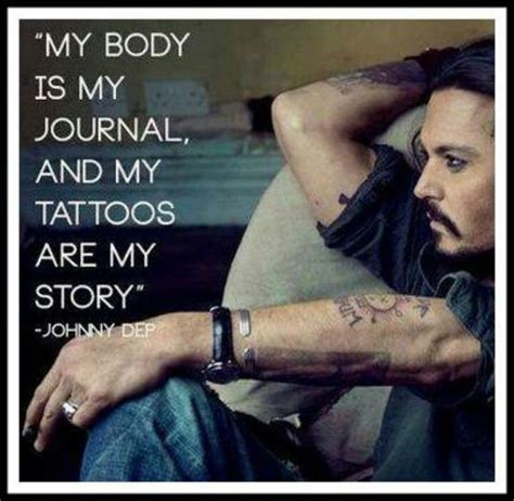 johnny depp tattoo saying johnny depp tattoo express what you feel pinterest