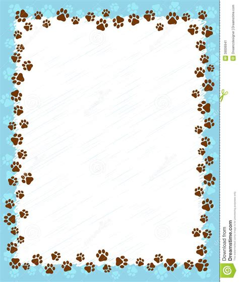 puppy frames paw prints border frame on light blue background and cat wallpaper borders