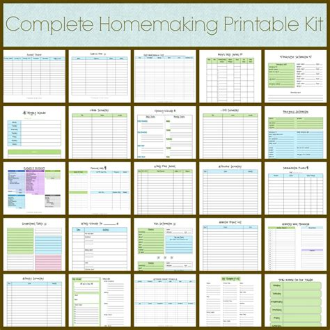 5 best images of home management binder printables pdf