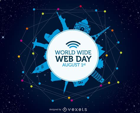 world web world wide web day poster free vector