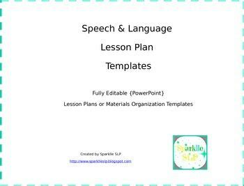 speech language lesson plan template 14 best slp theme therapy and monthly lesson plans images