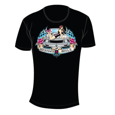 Tshirt 09 Xl From Ordinal Apparel horsepower heels pin up t shirt horsepower heels