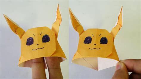 Eevee Origami - paper hat origami eevee hat tutorial henry pham my