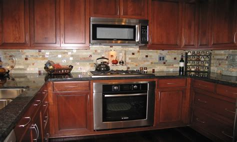 cabin storage ideas custom tile kitchen backsplash idea