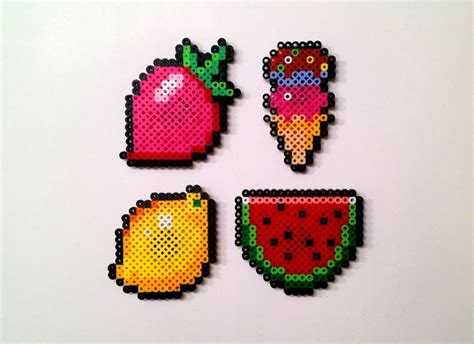 perler bead food 17 best images about food patterns on perler