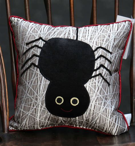 Woof Pillow by Silver Web Large Spider Pillow By Woof Poof The
