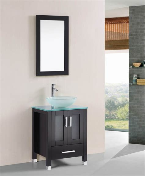 painting bathroom vanity espresso stephen 24 inch espresso bathroom vanity w glass sink