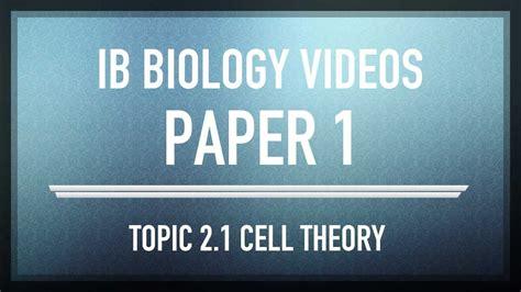 Cell Theory Mcqs Ib Sl Biology Past Exam Paper 1