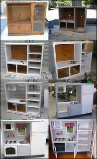 Kitchen Dollhouse Furniture wonderful diy play kitchen from tv cabinets