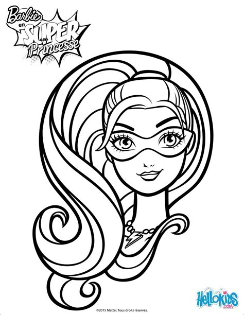 super barbie coloring pages barbie super hero coloring pages hellokids com