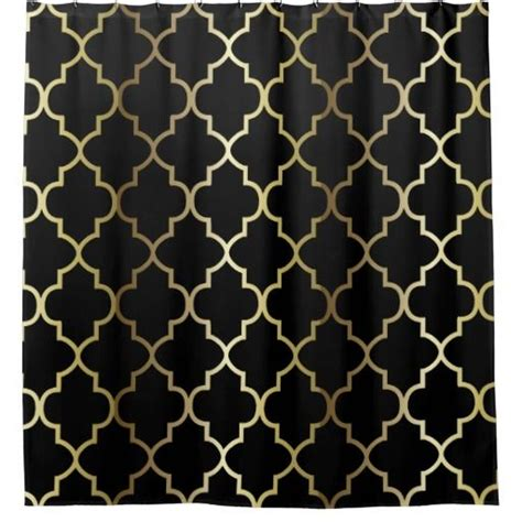 gold pattern curtain fabric black and gold quatrefoil pattern diy color shower